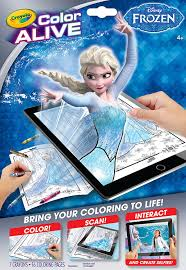 amazon crayola frozen color alive action coloring pages toys