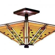 3 Light Fixture Style Ceiling Lights Stained Glass Fixtures For Sale