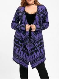 skull sweater purple 5xl plus size skull sweater drape cardigan
