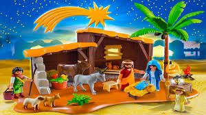 playmobil toy christmas nativity stable with manger youtube