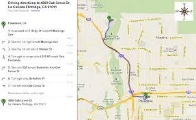 pasadena ca map directions