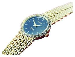 bracelet diamond watches images Ladies silver 925gp black dial diamond bezel w bracelet watch jpg