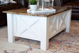 build a coffee table how to build a farmhouse coffee table with storage free building
