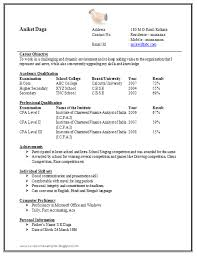 resume format for fresher awesome one page resume sle for freshers career