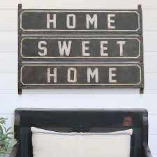 sign decor metal home sweet home sign vintage signs