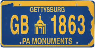 Pa Vanity Plates Donate Gettysburg Battlefield Preservation Association