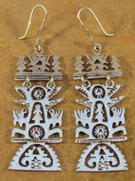 earrings 98490 mexican mexico sterling silver tree of