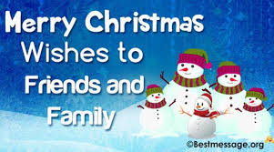 merry wishes to friends and family on whatsapp