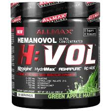 green apple martini allmax nutrition h vol nitric oxide pre workout vascular blood