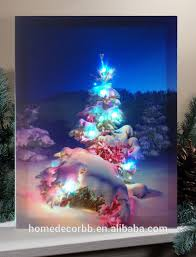lighted christmas tree led canvas wall art prints lighted