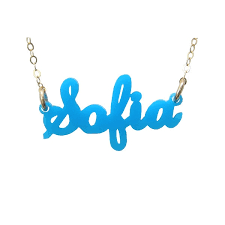 necklace name plate acrylic nameplate necklace it s sew wright