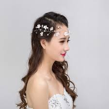 lace headwear 3pcs beauty lace headwear pearl flower wedding bridal