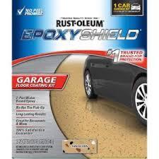 Rustoleum Epoxy Basement Floor Paint by Rust Oleum Epoxyshield 120 Oz Tan High Gloss Low Voc One Car