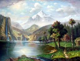 landscape painting painting on canvas landscape painting