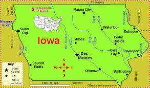 map us iowa iowa facts map and state symbols enchantedlearning