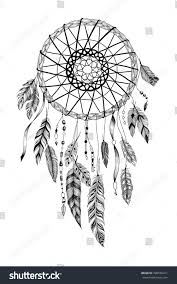 detailed dreamcatcher sun ornament stock vector 398578411