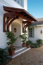 Building An Awning Over A Door Beautiful English Cottage Front Entry Porch Front Door White