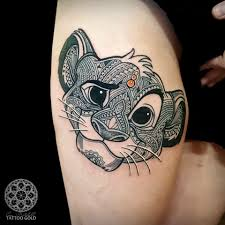 tattoo simba lion hip tattoo tattoo for cartoons