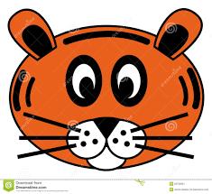cartoon tiger face tiger face stock image image 20700051