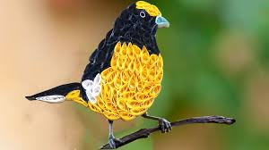 quilling birds how to make beautiful yellow quilled bird