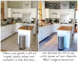ideas for space above kitchen cabinets decorating the space above kitchen cabinets home decor