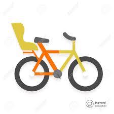 vélo avec siège bébé icône de vélo avec siège enfant clip libres de droits vecteurs