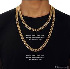 necklace length men images 2018 long necklace bracelet hiphop necklace long choker yellow jpg