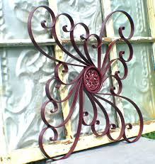 Iron Wrought Wall Decor Articles With Wrought Iron Wall Decor For Large Area Tag Rod Iron
