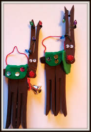 treble craft adventures clothespin reindeer pin or magnet