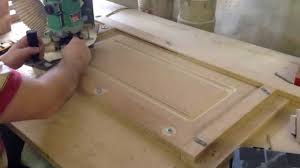 cabinet door router jig feb 5 2015 making mdf doors youtube