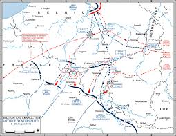 Europe Map Ww1 Of The Battle Of The Frontiers North August 1914