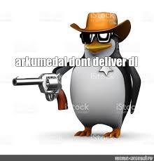 Meme Penguin - create meme 3 d penguin penguin with a gun 3 d render