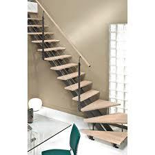 limon d escalier en bois escalier quart tournant escatwin structure aluminium marche bois