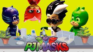 pj masks toys gekko catboy owlette catch villains night