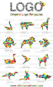 origami logo design templates 12 animals birds and fishes