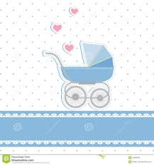 widescreen new baby boy shower invitation card royalty stock image