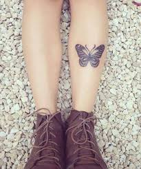 elegant little butterfly tattoo on foreleg tattoo tattos and