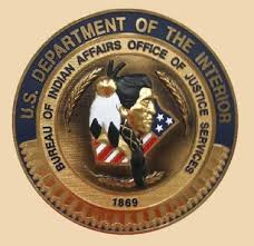 us bureau of indian affairs bureau of indian affairs office of justice services wall seal