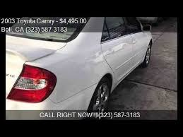 2003 toyota camry xle for sale 2003 toyota camry xle 4dr sedan for sale in bell ca 90201 a