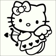 printable kitty coloring pages children color zini