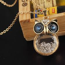 crystal owl pendant necklace images 14k gold filled austrian crystal white sapphire owl pendant necklace png