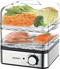 cuisine a la vapeur triomph etf1575 cuiseur vapeur inox 400 w amazon fr cuisine maison
