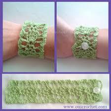 bracelet crochet pattern images Oui crochet lace cuff bracelet free crochet pattern jpg