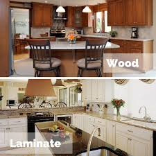 can you reface laminate kitchen cabinets which is better for cabinet refacing laminate or wood