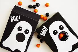 Halloween Gift Wrap - printable ghost treat box