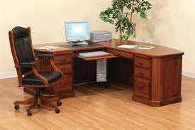 Solid Wood L Shaped Desk Solid Wood L Shaped Desk Style Home Design Ideas Charm Of