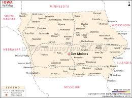 map of iowa towns iowa rail map route