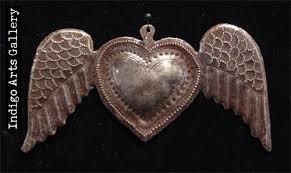 hearts for haiti winged ornaments indigo arts