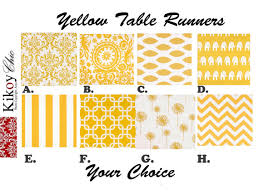 table runner or placemats yellow table runner yellow chevron table runner chevron table