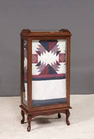 Queen Anne Secretary Desk by Amish Large Quilt Rack Display Case